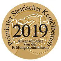 Plakete Auszeichnung Prämierter steirischer Kernölbetrieb 2019