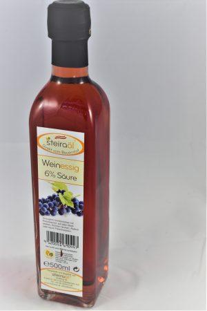 Weinessige 500ml in eckiger Flasche
