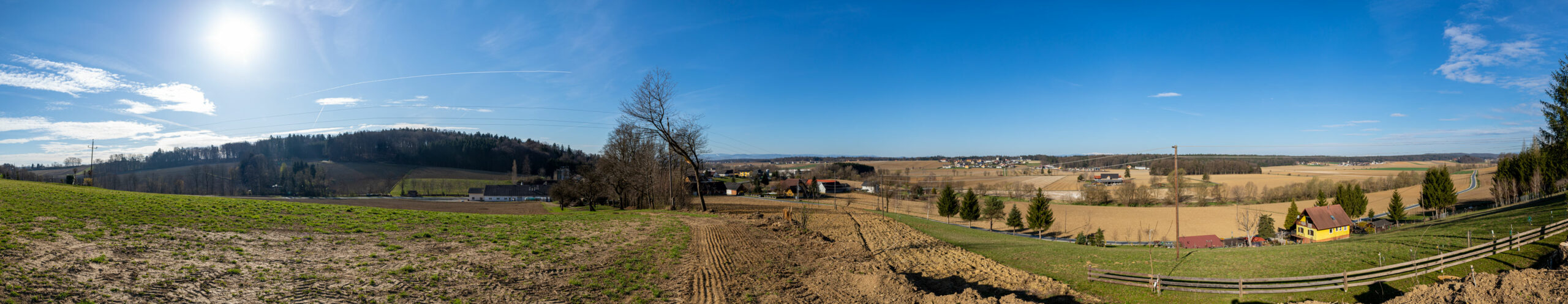 Panoramafoto Steiraöl Gelände